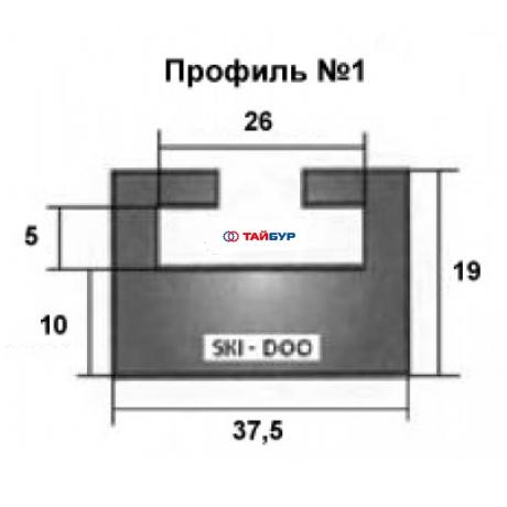 Накладка рельса (склиз) №01-52.00-2-01-01 для Тайги и BRP