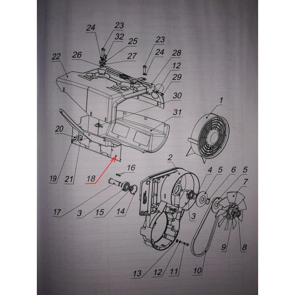 Кожух двигателя задний С40500200