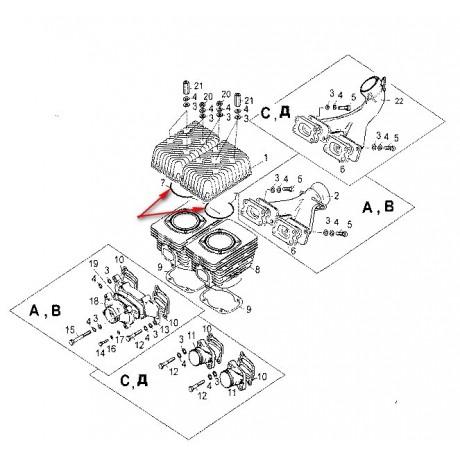Кольцо уплотнительное под головку цилиндра С40500039