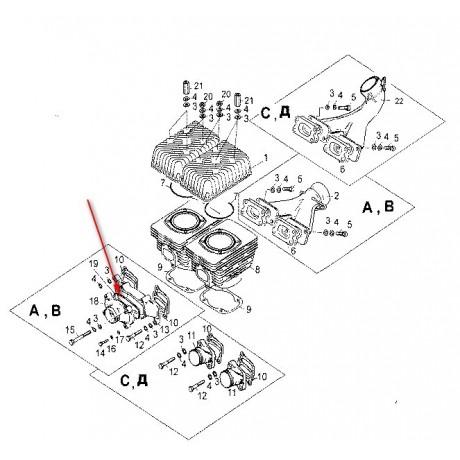 Кольцо уплотнительное впускного коллектора С40500025