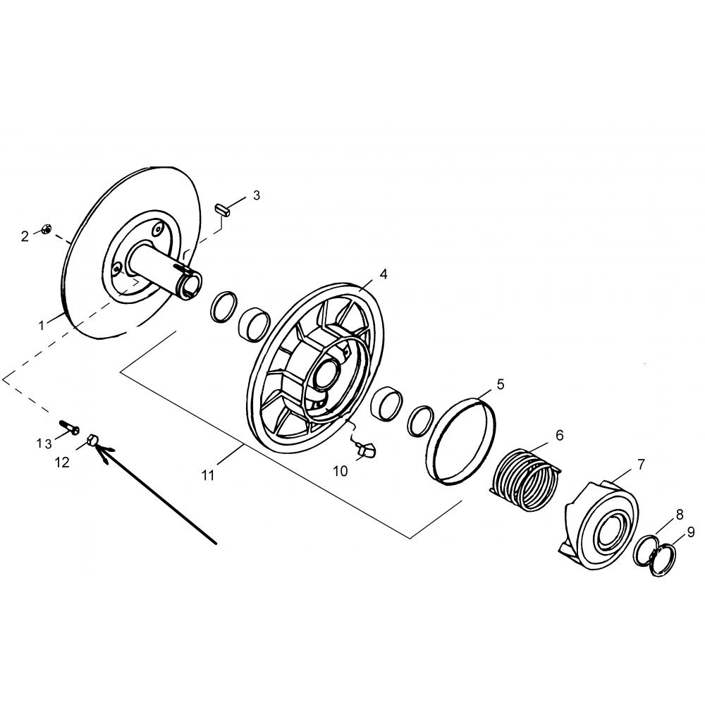 Колпачок шкива вариатора С40600509