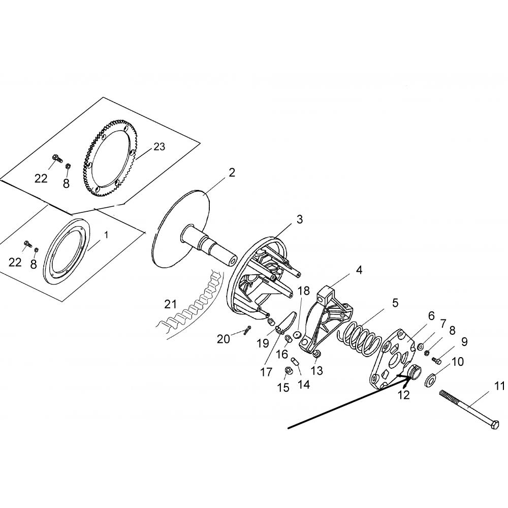 Втулка вариатора кругл. С40600404