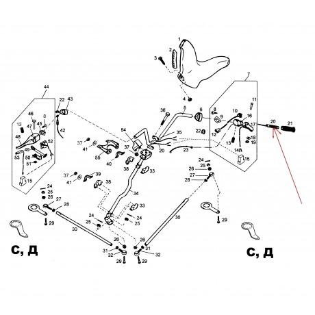Нагреватель ручки руля с жгутом С41100090 (ГЭН)