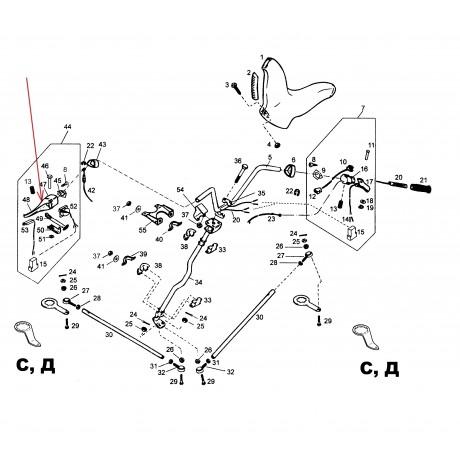 Корпус ручки тормоза С40300032