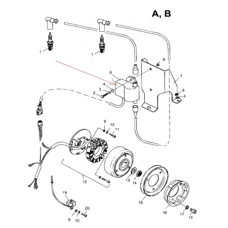 Коммутатор Ducati 432 38 5510  (5520)