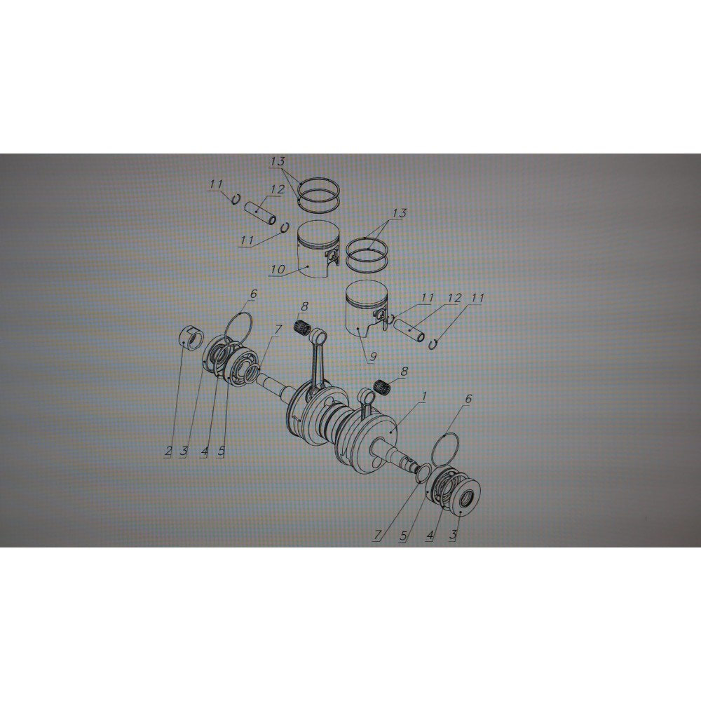 Кольцо поршневое 14-076-15-33 завод Бузулук, Чехия