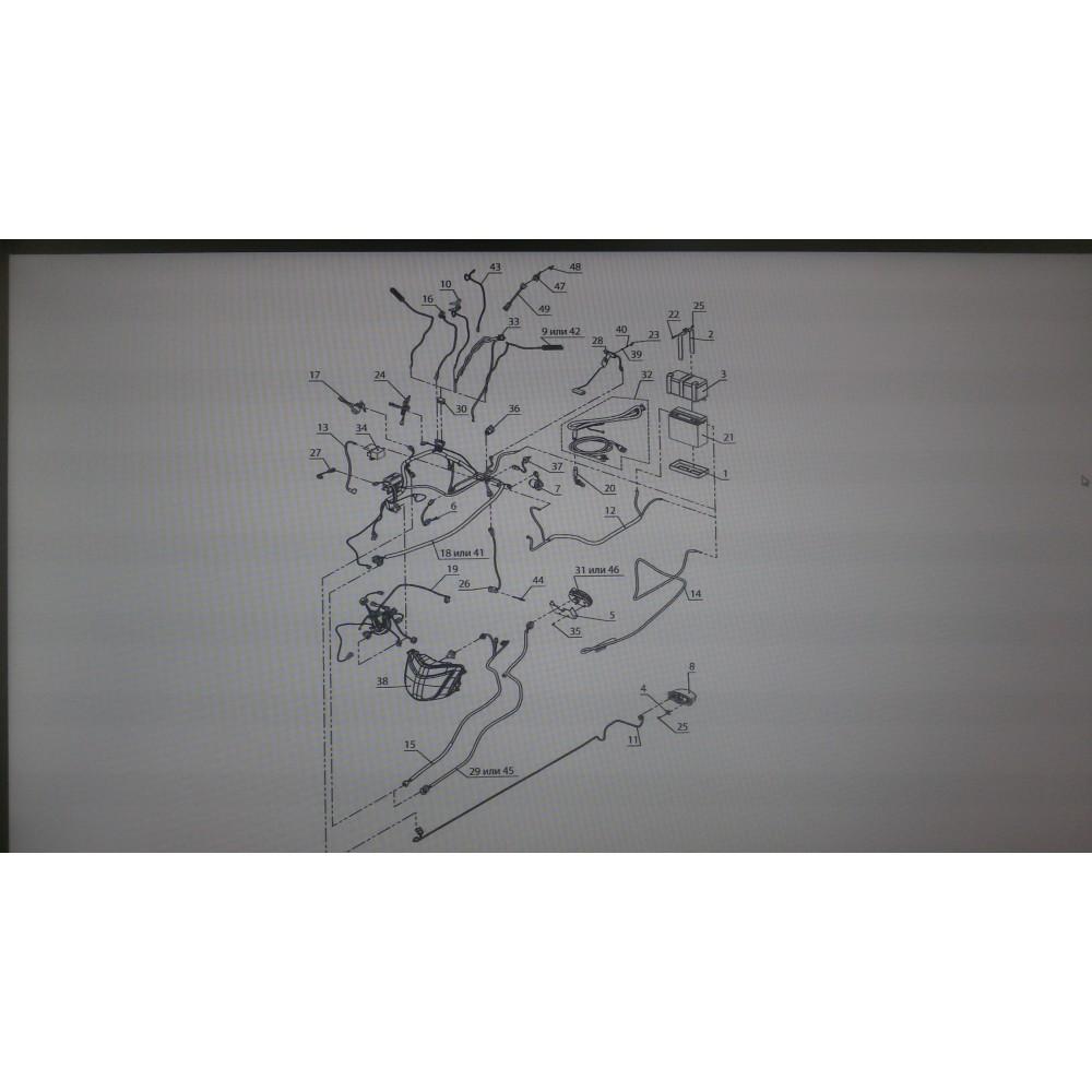 Жгут фонаря заднего C41100950