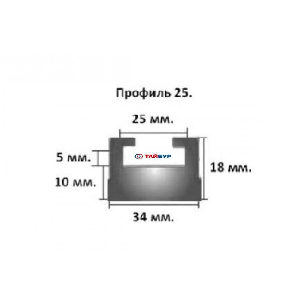 Накладка рельса (склиз) №25-56.89-3-01-12 графит для Yamaha и VK4 PRO
