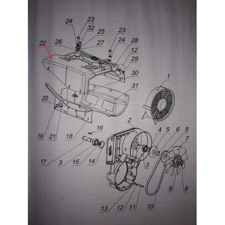 Кожух двигателя верхний 1 карб. С40500300-01