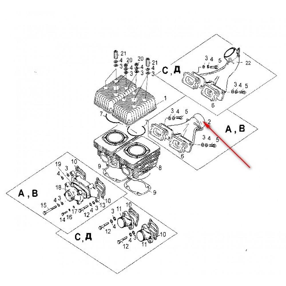 Коллектор выхлопной С40500360