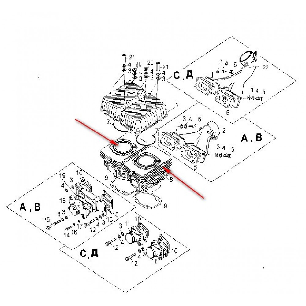 Цилиндр С40500340 / Тайга 500