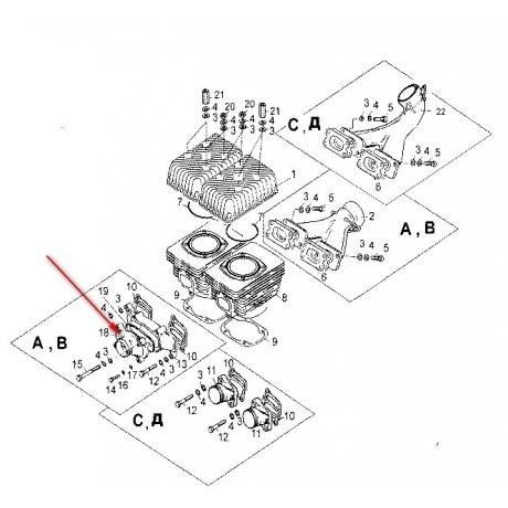 Крышка впускного коллектора С40500002