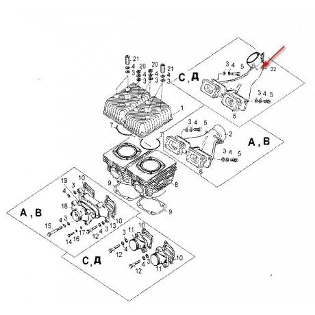 Коллектор выхлопной С40500270