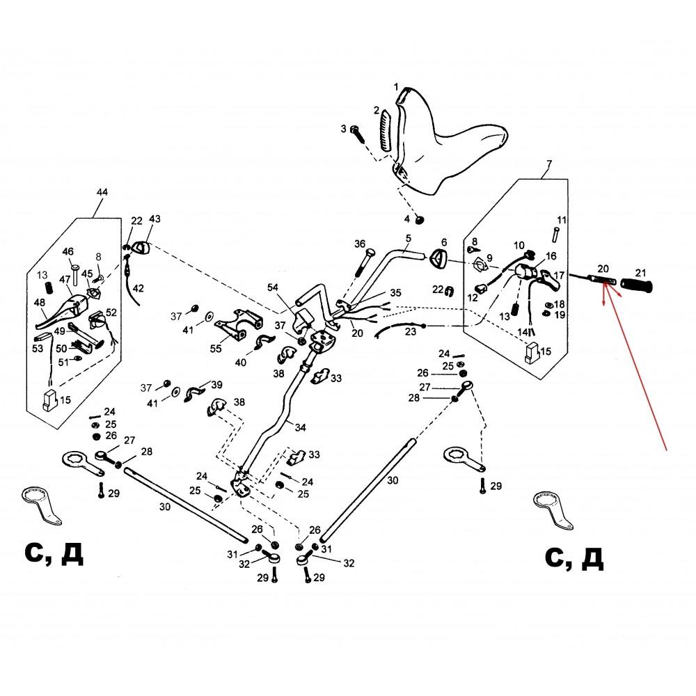 Нагреватель ручки руля с жгутом С41100090