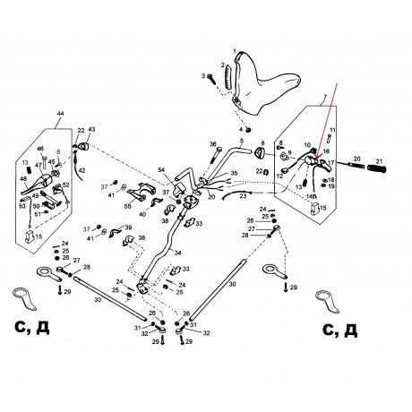 Корпус ручки газа С40300029