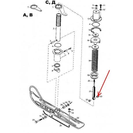 Втулка амортизатора лыжи С40300008