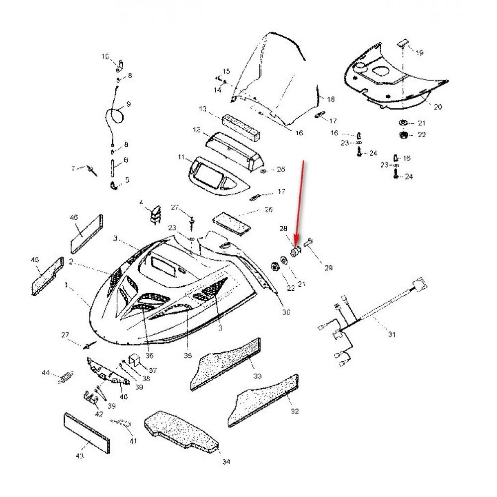 Фиксатор ремня крепления капота С40700106