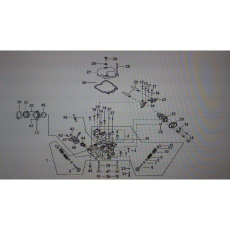 Головка цилиндра в сборе D9900003
