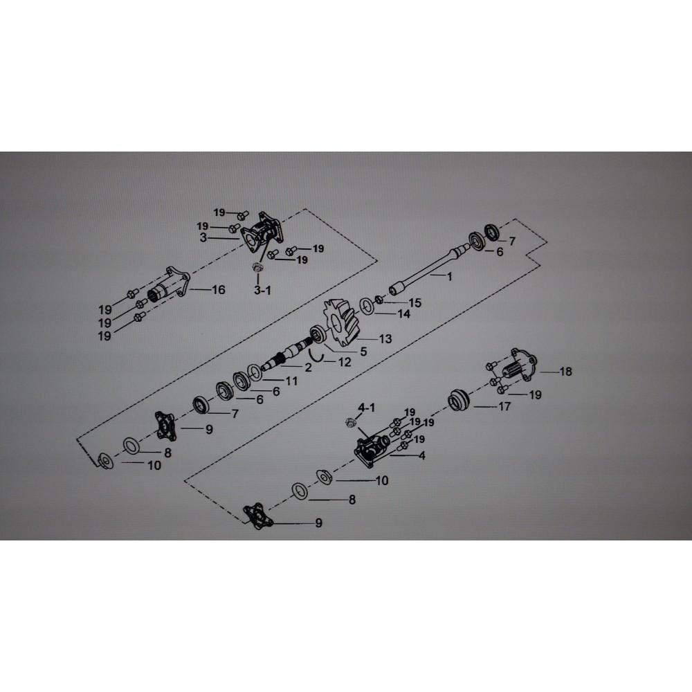 Ведущая коническая шестерня вторичного вала (21Т) 924204
