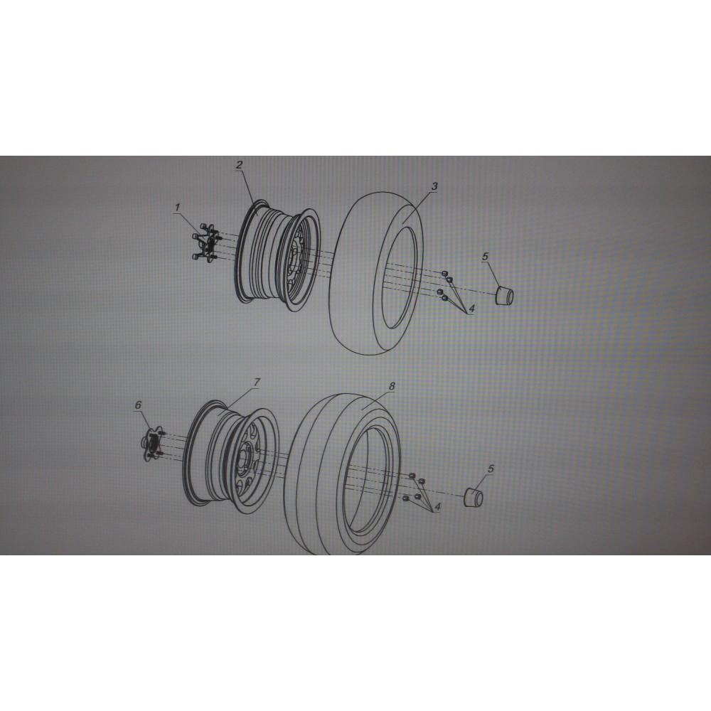 Шина задняя 26х10-14, 6PR DI-2025 RR(26'')
