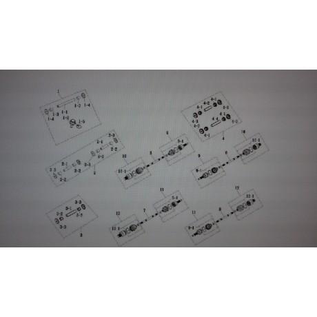 РЕМКОМПЛЕКТ НИЖНЕГО РЫЧАГА (ПЕР. ,ЗАД.) 5560B-AX300-000