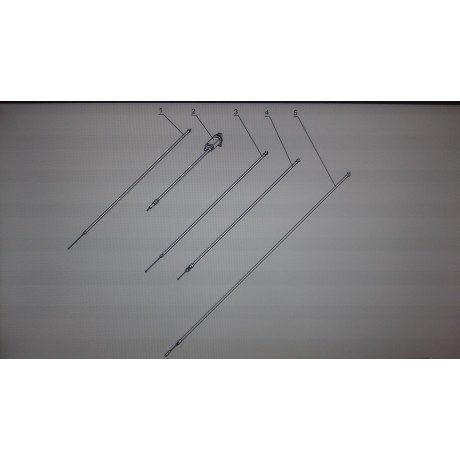Трос топливного корректора C40800680-01/Буран А, АЕ, АД, АДЕ