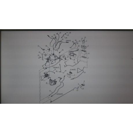 Электропровод стартера C41101330/Барс 850