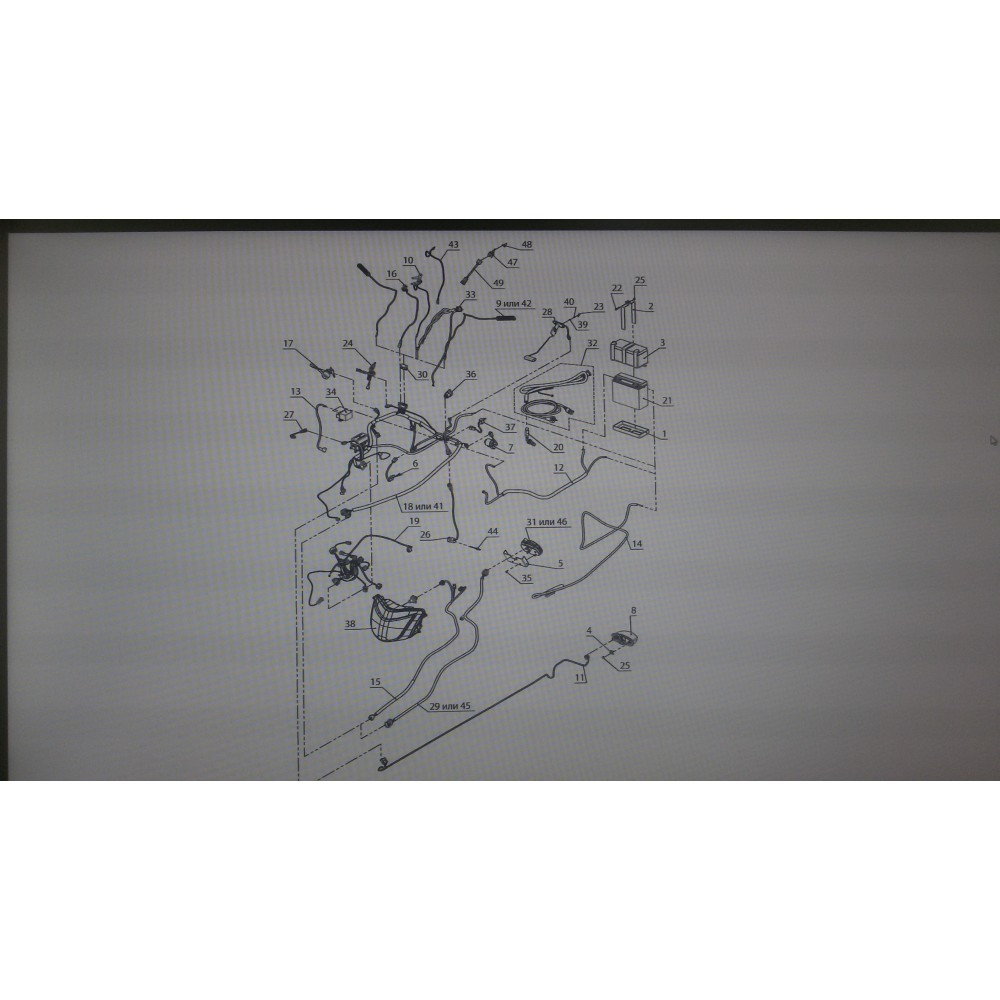 Жгут капота C41101350