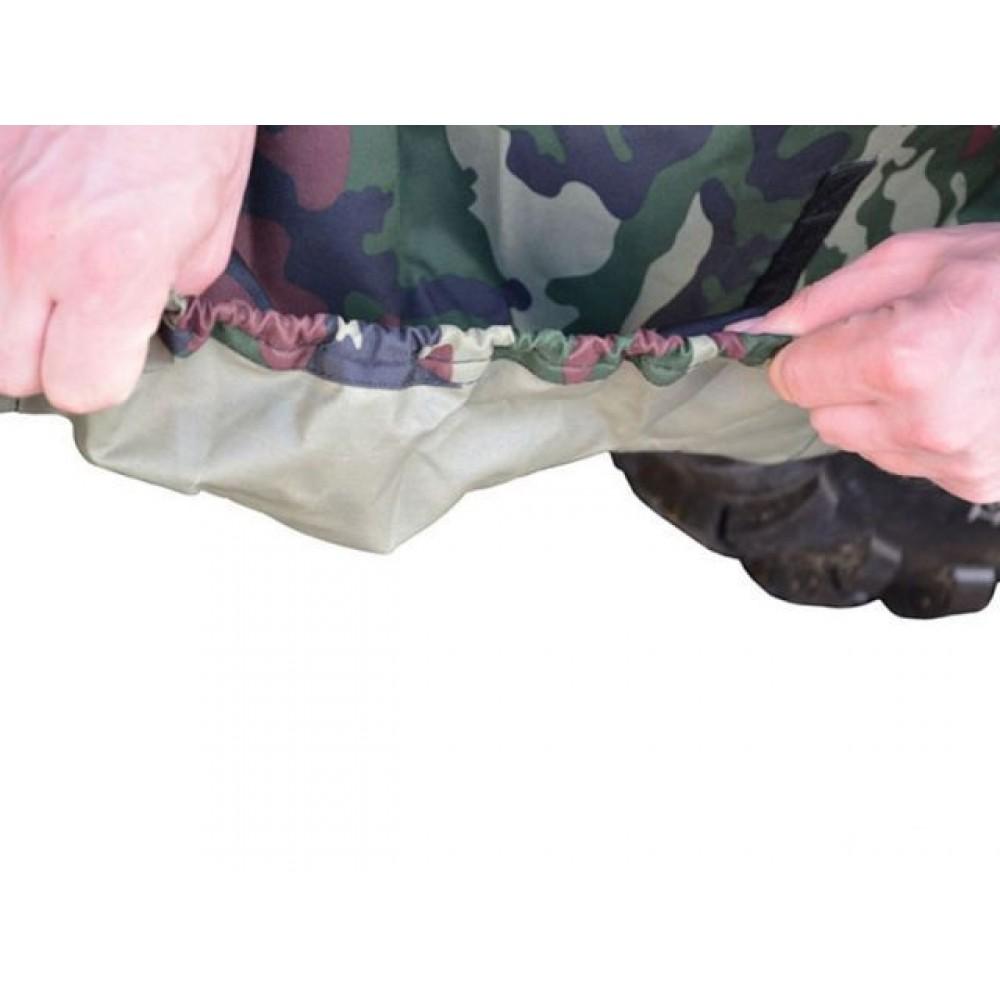Защитный чехол-тент на квадроцикл с карманами под стекло и кофр (водонепроницаемый)