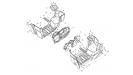 Пластик подножки, РМ500-2