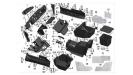 Пластик средняя часть/UTV800