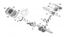 Поршень, цилиндр и коленчатый вал (двигатель)/UTV800