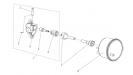 Привод спидометра для коробки реверса
