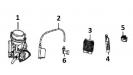 Карбюратор и детали электрооборудования (двигатель)