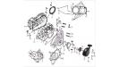 Картеры коленчатого вала левый и правый (двигатель)