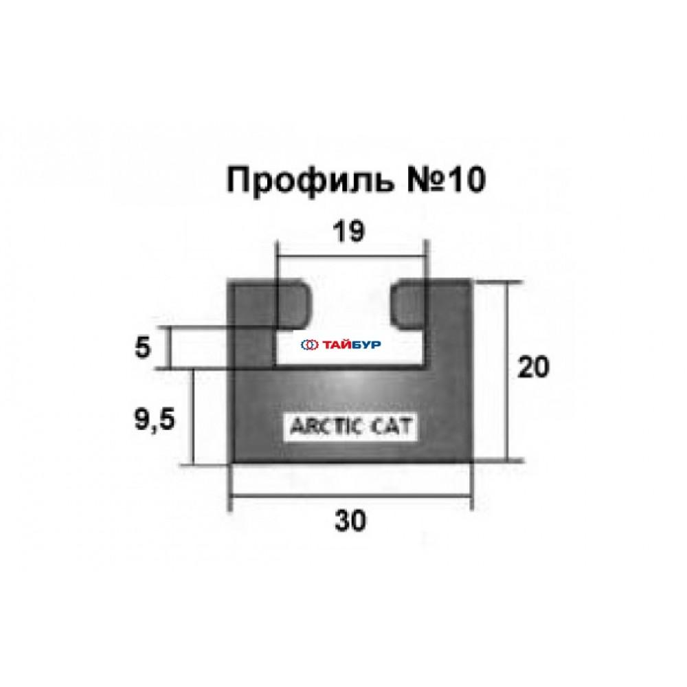 Накладка рельса (склиз) №10-64.00-0-01-12 графит для Arctic Cat