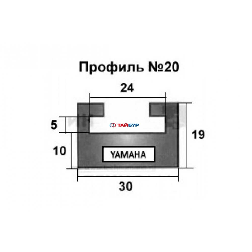 Накладка рельса (склиз) №20-52.56-2-01-01-1 для Yamaha VK3 и PRO